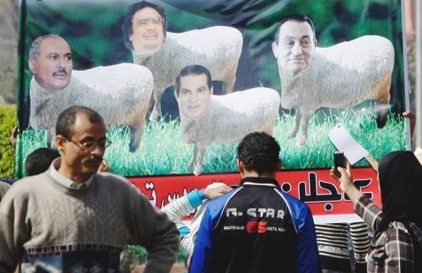 Líderes árabes prontos para o abate